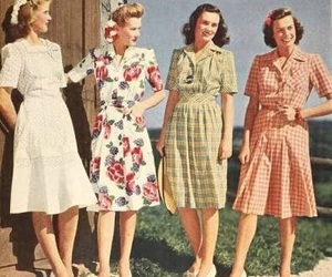 vintage, girls, and retro image