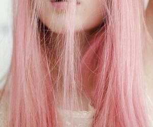 pink, girl, and hair image