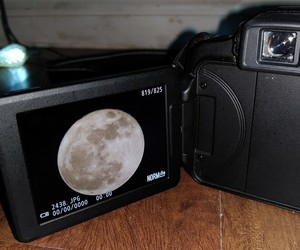 camera, pretty, and full moon image