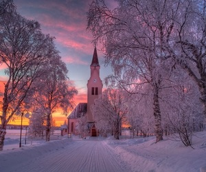 nature, snow, and sweden image