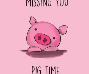 pink, pig, and funny image