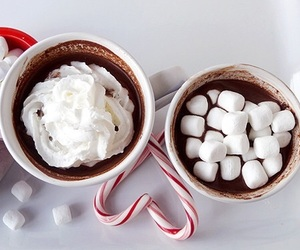 christmas, chocolate, and marshmallow image