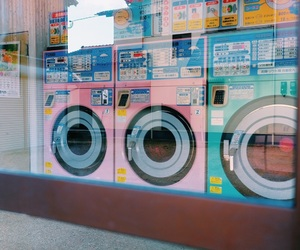 japan, vintage, and washing rooms image