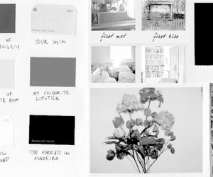 aesthetic, b&w, and headers image