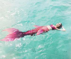 mermaid and pink image