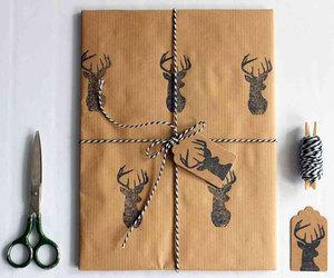 christmas, deer, and christmas wrapping image