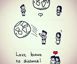 love, distance, and cute image