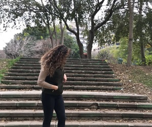 chic, curly, and trees image