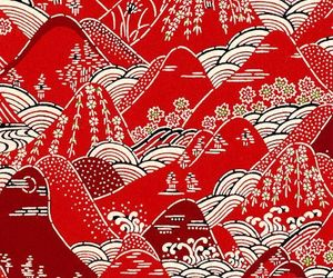 japanese, pattern, and red image
