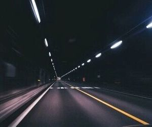 grunge, road, and dark image