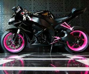 pink, black, and bike image