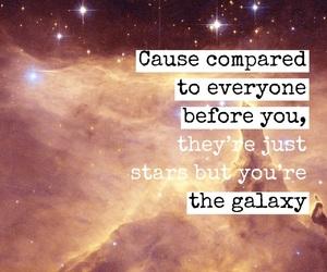 easel, galaxy, and Lyrics image