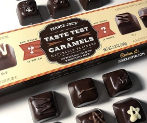 caramels, chocolate, and trader joes image