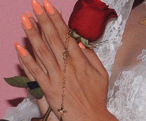 aesthetic, nails, and rose image