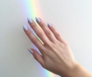 nails, rainbow, and beauty image