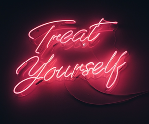 treat yourself, light, and neon image