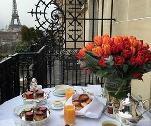 paris, flowers, and breakfast image