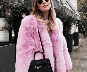 pink, style, and fur image