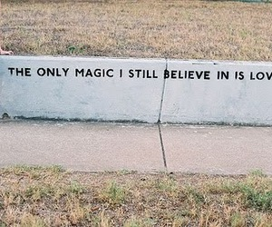 love, magic, and quote image
