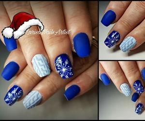 christmas, holiday, and nail art image