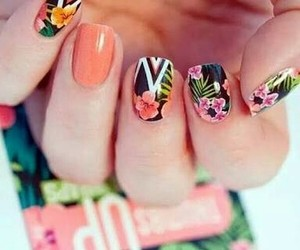 nails, beautiful, and floral image