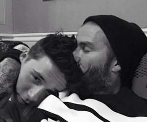 David Beckham, brooklyn beckham, and son image