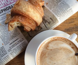 bakery, newspaper, and breakfast image