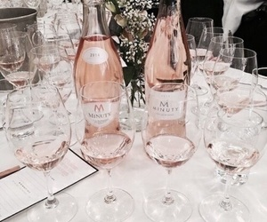 rose gold, champagne, and rose image