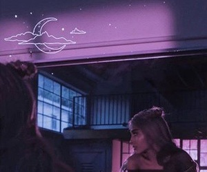 aesthetic, moonlight, and pink image