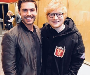 zac efron, ed sheeran, and handsome image