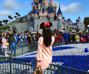black, disneyland, and fashion image