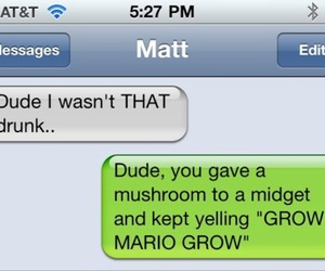drunk, fun, and super mario image