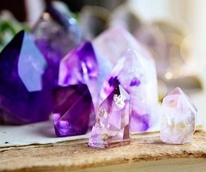 crystal, light, and purple image