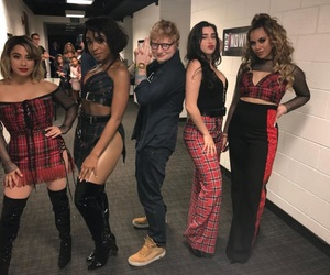 ed sheeran, fifth harmony, and girls image