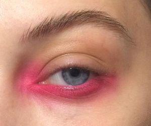 eye, eyeshadow, and pink image
