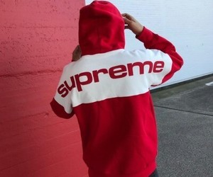 red, supreme, and aesthetic image