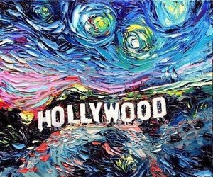 hollywood, art, and paint image