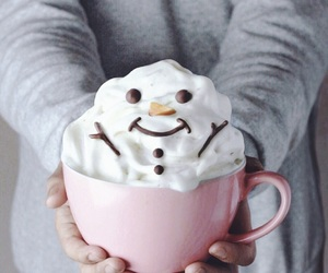 cup, snowmen, and winter image