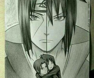 brothers, draw, and itachi image
