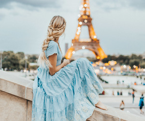 paris, travel, and flowers image