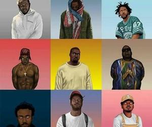biggie, tupac, and kendrick lamar image
