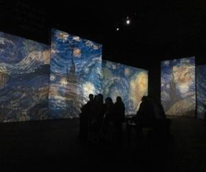 art, van gogh, and dark image