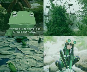 aesthetic, anime, and frog image