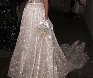dress, beauty, and glitter image