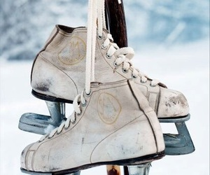 ice, snow, and ice skate image
