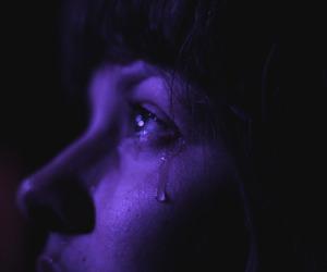 purple, cry, and grunge image