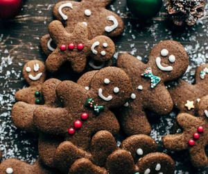 bon appetit, gingerbread man, and christmas image