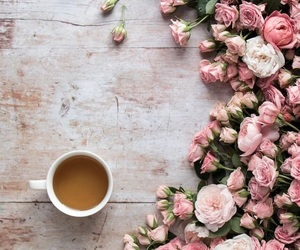 tea, neutral, and roses image