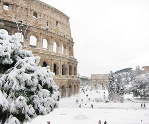 snow, winter, and rome image