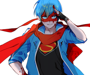 anime, blue eyes, and blue hair image